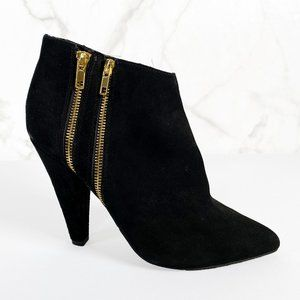 Dolce Vita Suede Pointed Toe Double Zip Booties